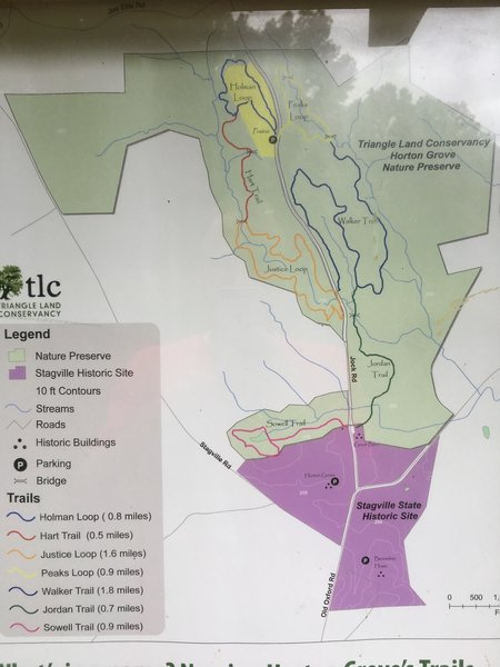 Official map at the trailhead.