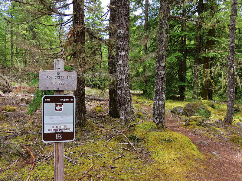 Trailhead in Riley Horse Campground.  The trail is open to hikers and equestrians.  Photo by Wanderingyuncks.
