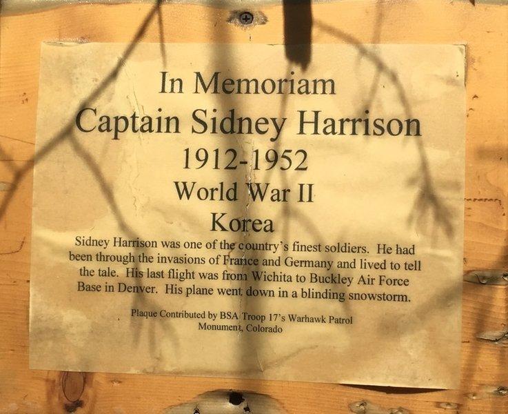 Sidney Harrison Memorial Plaque