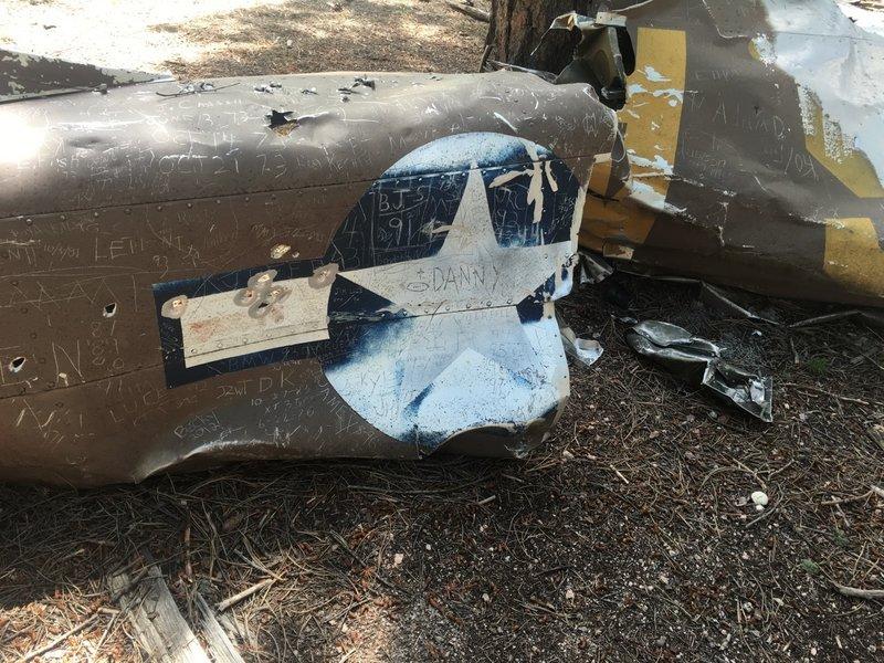 Wreckage fuselage.