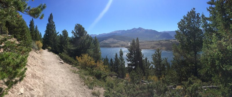 Beautiful views of Dillon Reservoir and the nearby peaks.