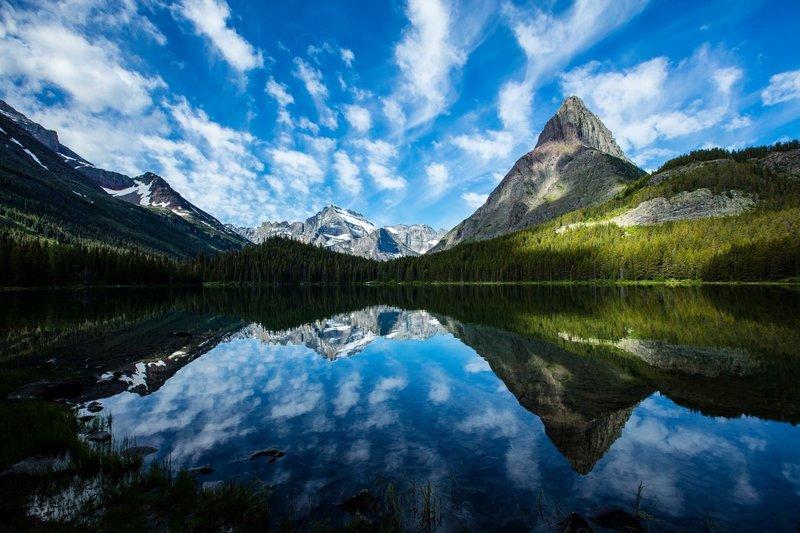 Swiftcurrent Lake. Glacier National Park.