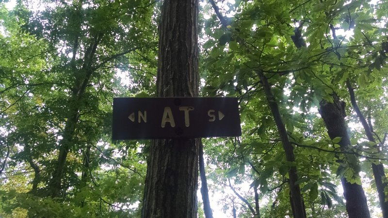 AT Sign: Appalachian Trail - Fox Gap PA to Columbia Gas Pipeline