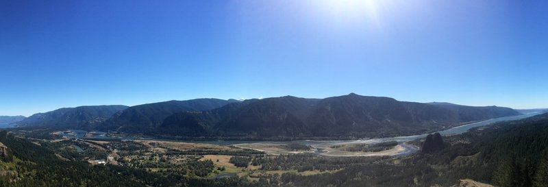 View of the Columbia River Gorge from Hamilton Mountain.