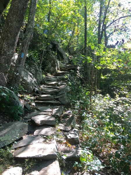 It took some serious work to create these trail rock steps. Look at the hundreds of perfectly stacked stones!