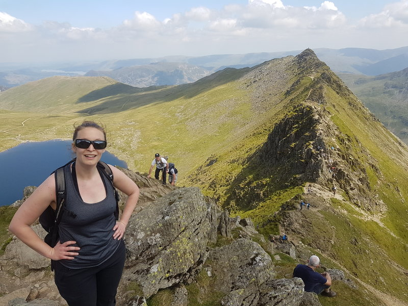 Looking back to the Striding Edge.