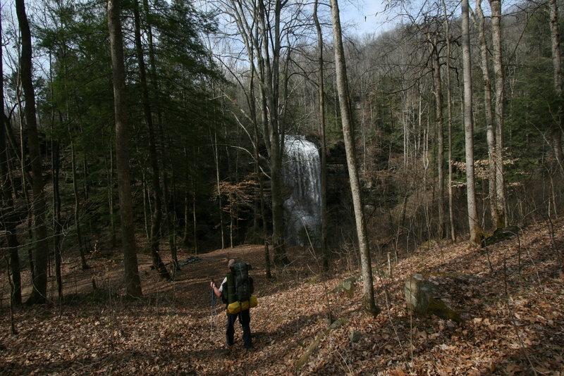 Hiking toward the falls.