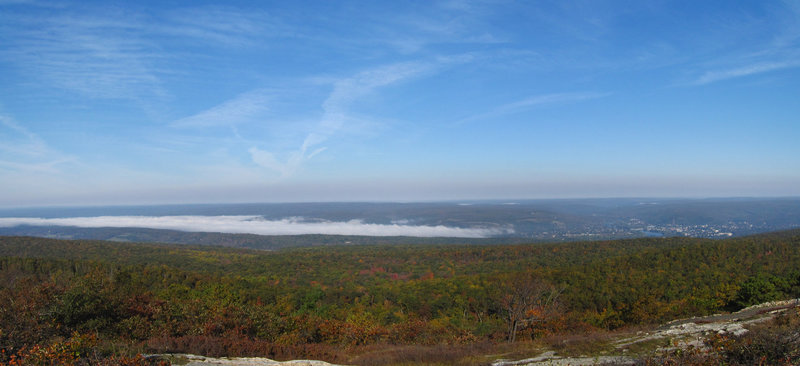 Looking out on the Delaware River Valley.