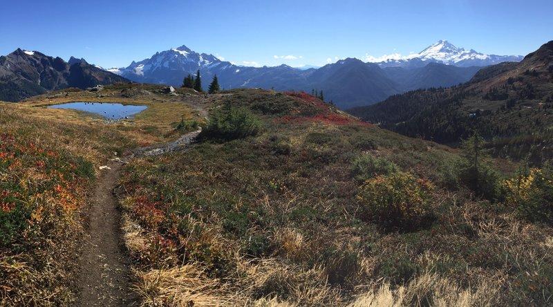 Descending the Butte.