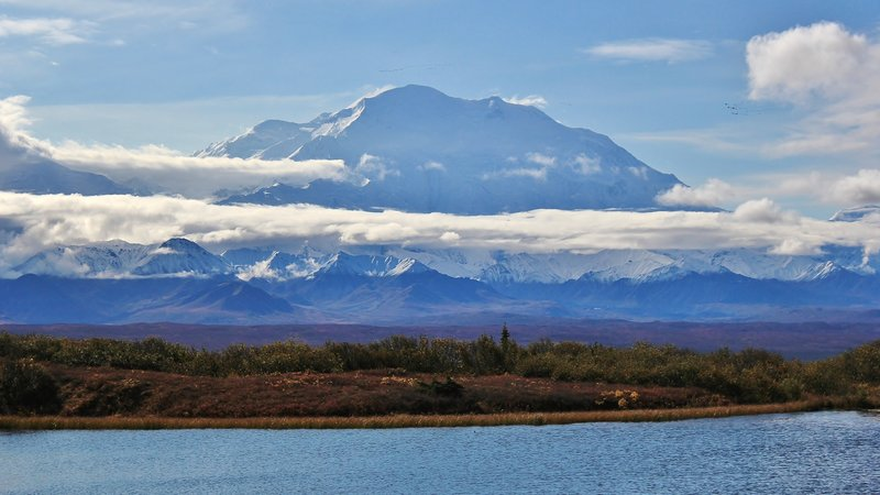 Denali from the Reflection Pond, Denali National Park, Denali Borough, Alaska. with permission from David Broome