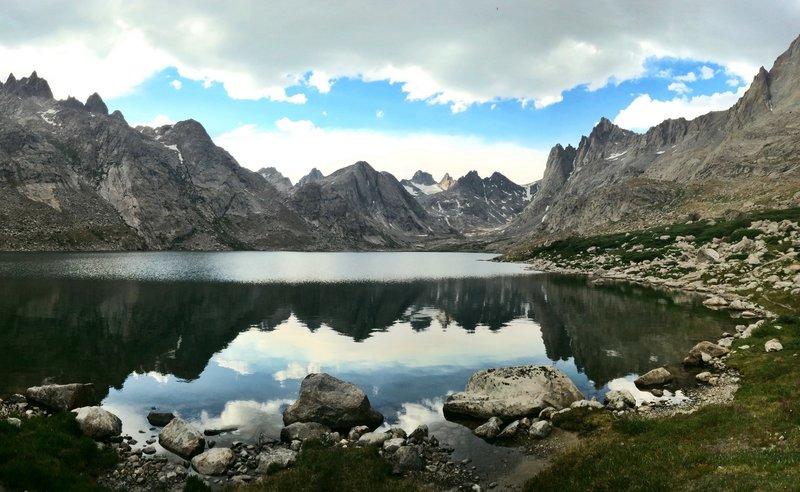 Beautiful reflection in Upper Titcomb Lake.