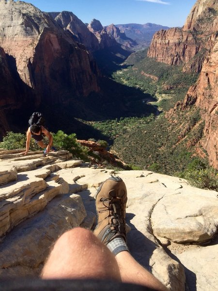 Angels Landing Zion - Labor Day 2016.