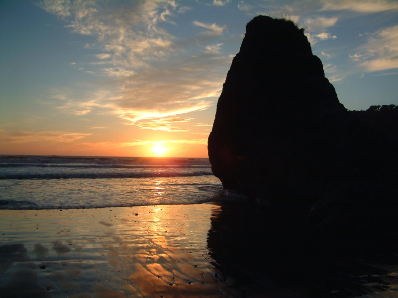 Sunset from Ruby Beach.