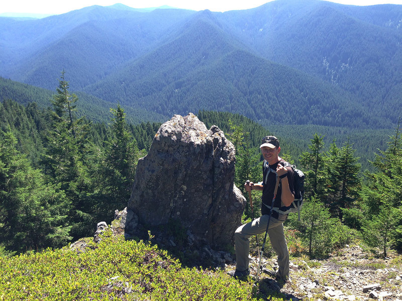 Douglas Trail has great views of the southern part of the Salmon-Huckleberry Wilderness. Photo by Maier.