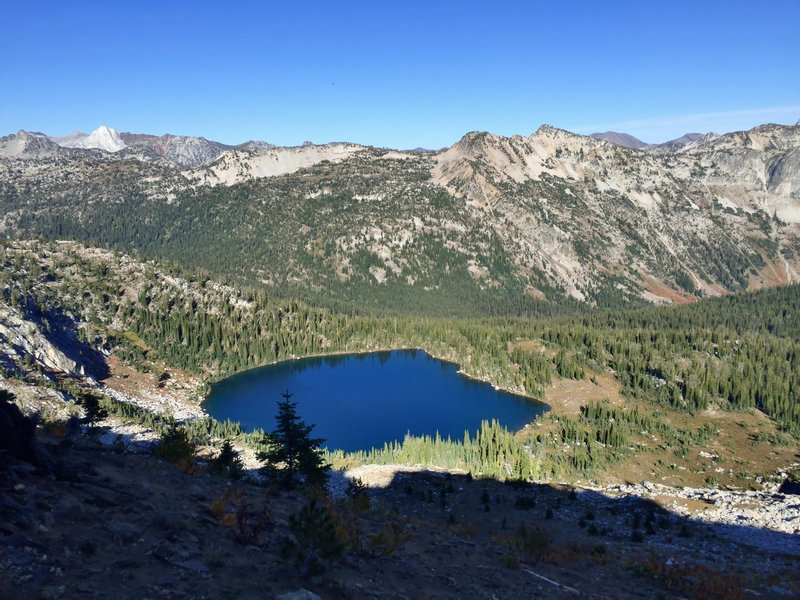 Blue Lake from the ridge above.