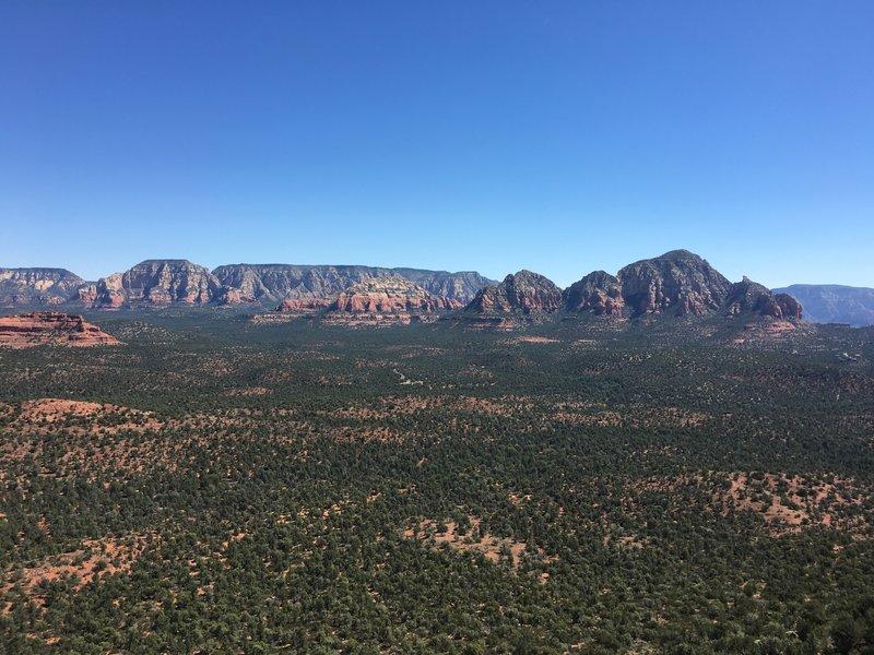 View from Doe Mesa looking east.