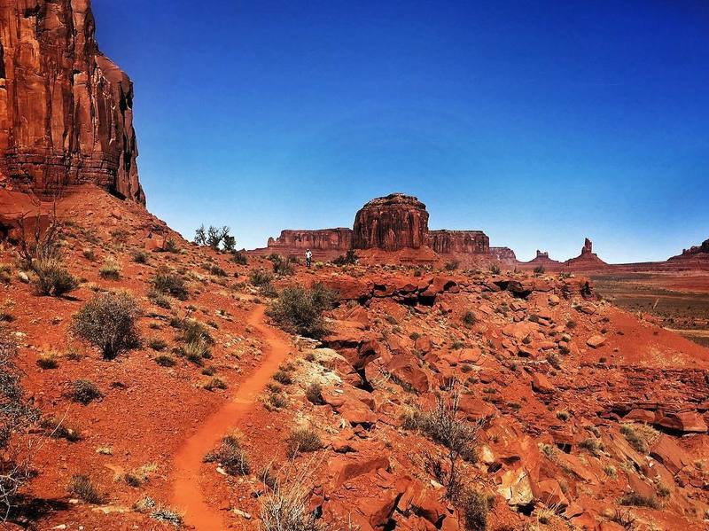 Near Artists Point but on trail that only Ultra Adventures runners or those with a Navajo guide can be on!
