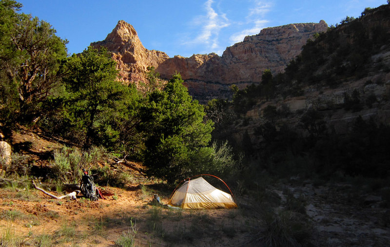 Upper Dark Canyon and a campsite for the night. with permission from AcrossUtah