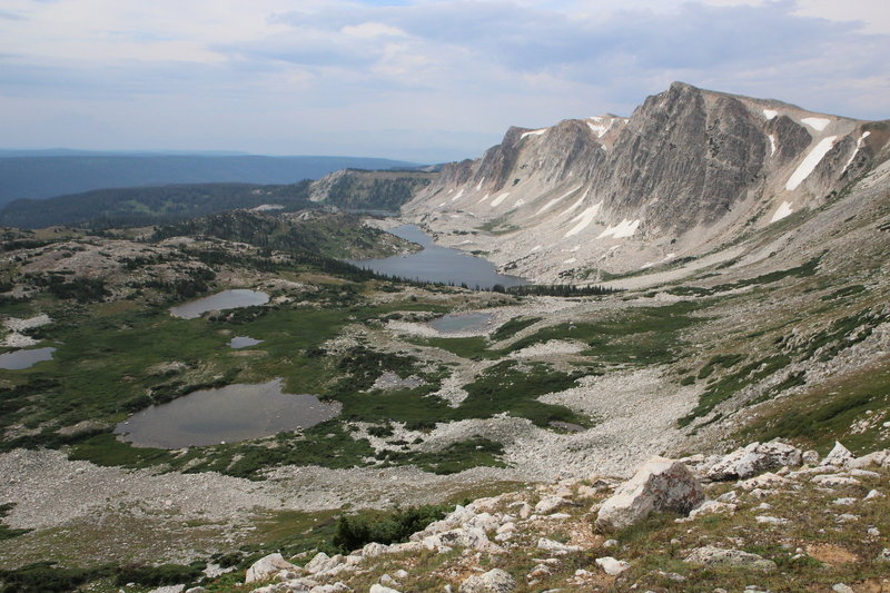 View on the way up to Medicine Bow Peak.