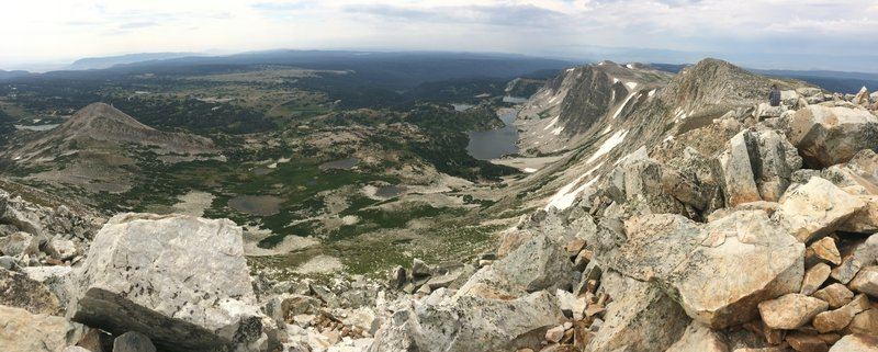 View from the top of Medicine Bow Peak.