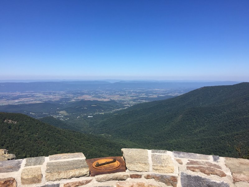 Looking West from Hawksbill Summit.