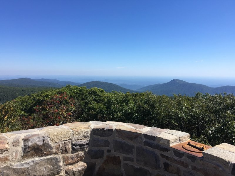 Looking East from Hawksbill Summit.