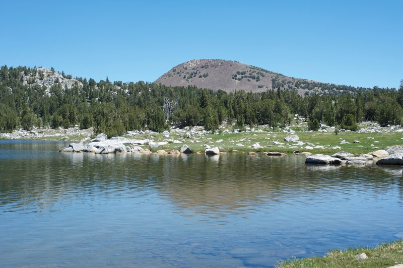 Gaylor Peak and Lower Gaylor Lake.  It's a quiet hike.