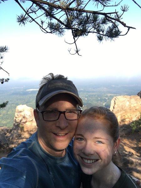 Perfect summit spot for trail mix