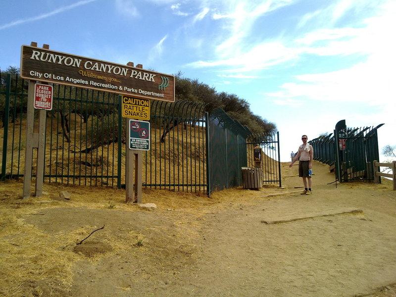 Runyon Canyon Park North Entrance.
