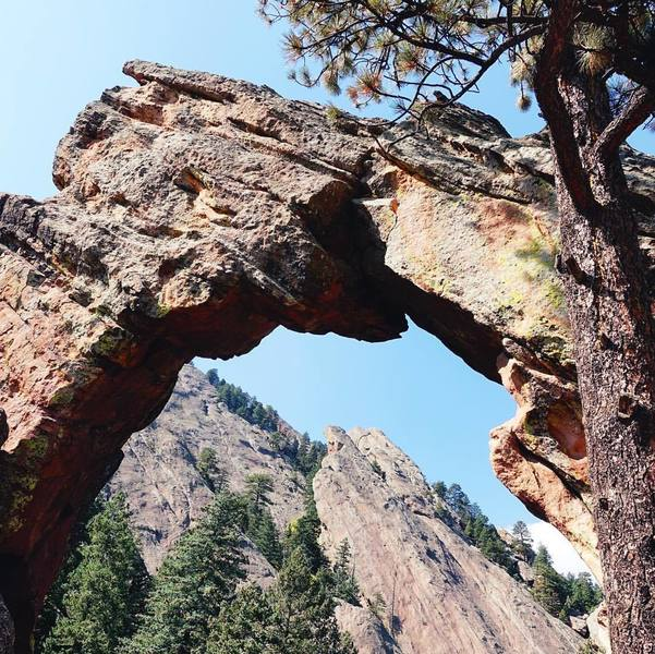 Royal Arch and the Flatirons.