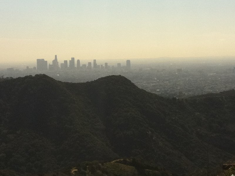 LA skyline from Mt. Lee Drive.
