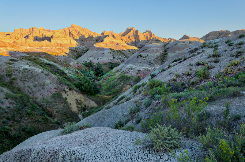 Looking out over the Badlands.