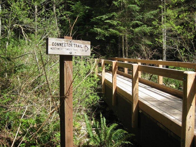 Connector Trail bridge.