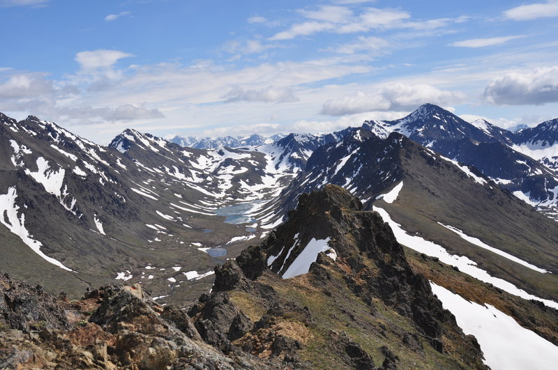 Top of the peak.