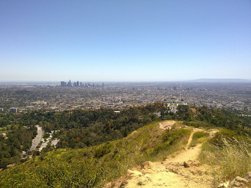 Looking south toward Griffith Observatory and the L.A. skyline.