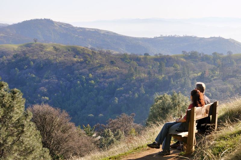 Enjoying the view at Henry Coe State Park.