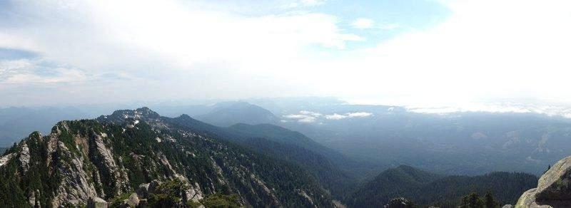 Perfect lunch spot atop Mount Pilchuck.