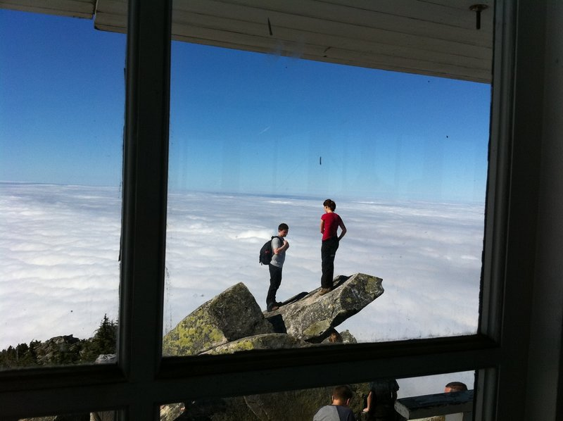 From the fire lookout on Mount Pilchuck.