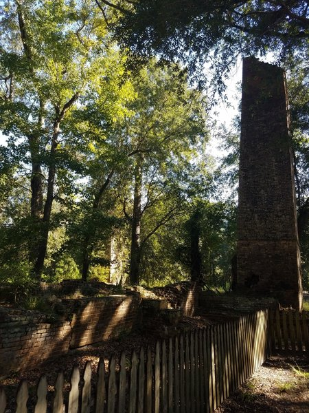 Remains of the old Sugar Mill that serve to help find the trailhead.