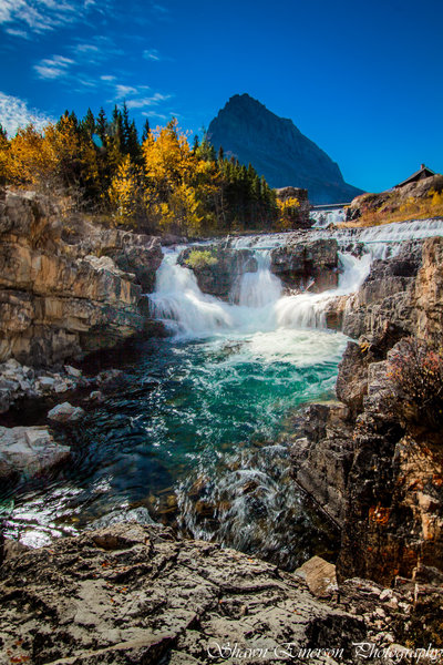 Upper portion of Swiftcurrent Falls - accessible right off the road.