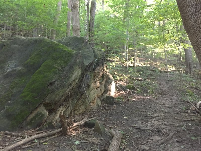 Lots of rock formations similar to this can be found around the trails.