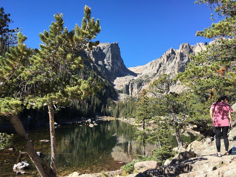 Dream Lake is beautiful.