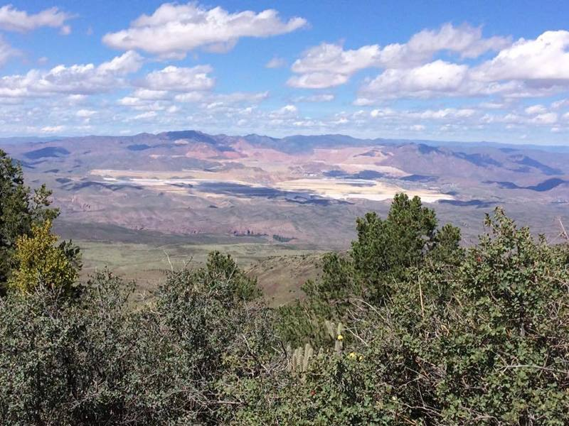 This is at the top of Guthrie Peak overlooking the Freeport copper mine in Morenci.