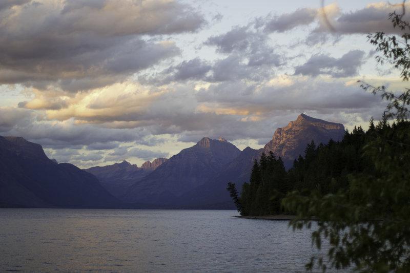 Sunset over Lake McDonald in Glacier National Park, Montana.