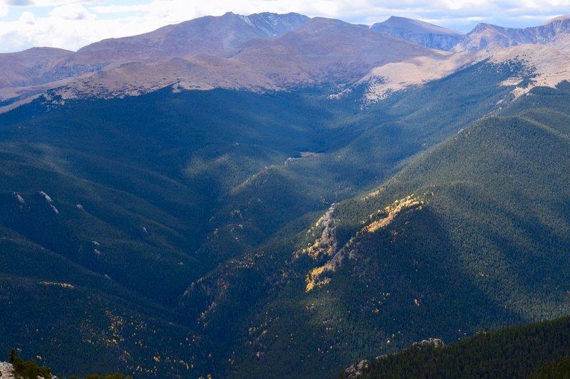 Summit view looking SW toward Mt. Evans