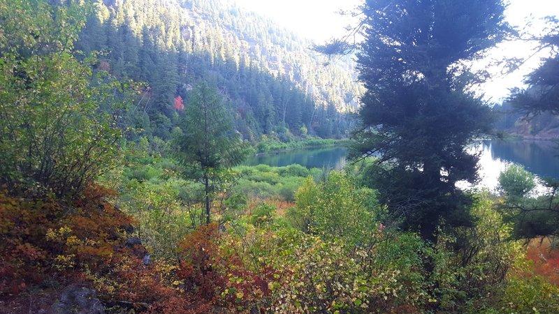 Fall colors at Lower Palisades Lake.