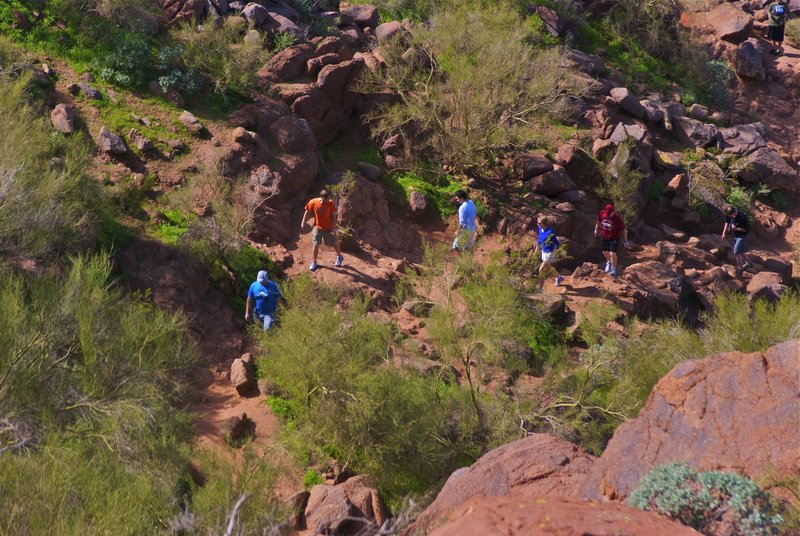 Get there early or risk big crowds hiking up Camelback on the weekends.