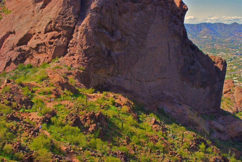 The saddle on Camelback Mountain.