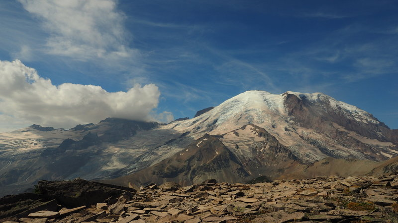 This was taken from the end of the Burroughs Trails which start at the Sunrise Visitor Center in Mount Rainier National Park.