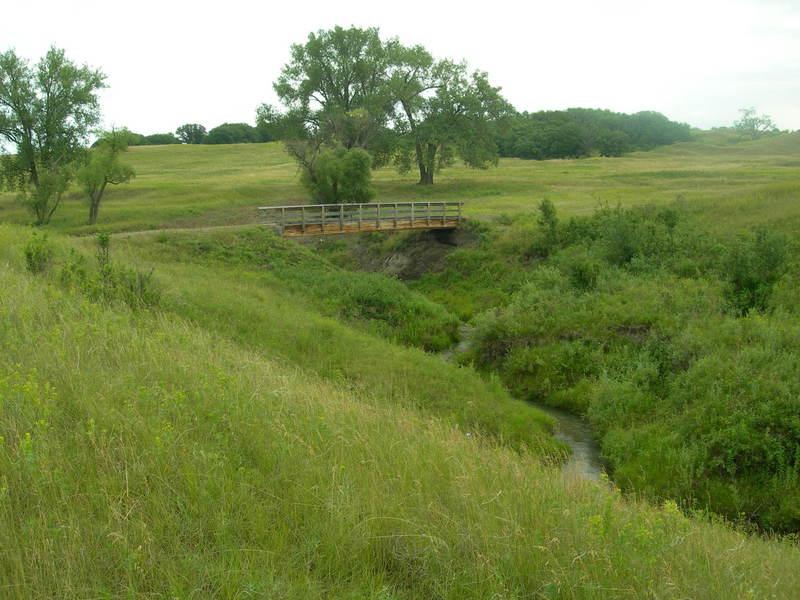 The NCT crosses this bridge over Iron Springs Creek.